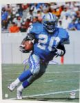 LIONS BARRY SANDERS SIGNED AUTHENTIC 16X20 PHOTO SCHWARTZ & PSA/DNA
