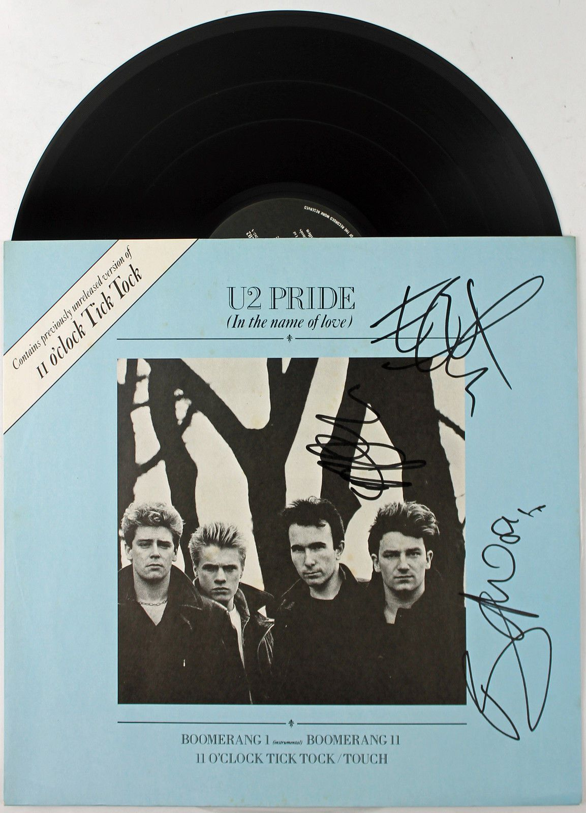 singles in pride There are only four tracks in this rare cd: 1 pride 2 boomerang (instrumental) 3 boomerang (vocal) 4 4th of july although it was produced in 1984 (30 years ago today), it is still fun and enjoyable to listen to.