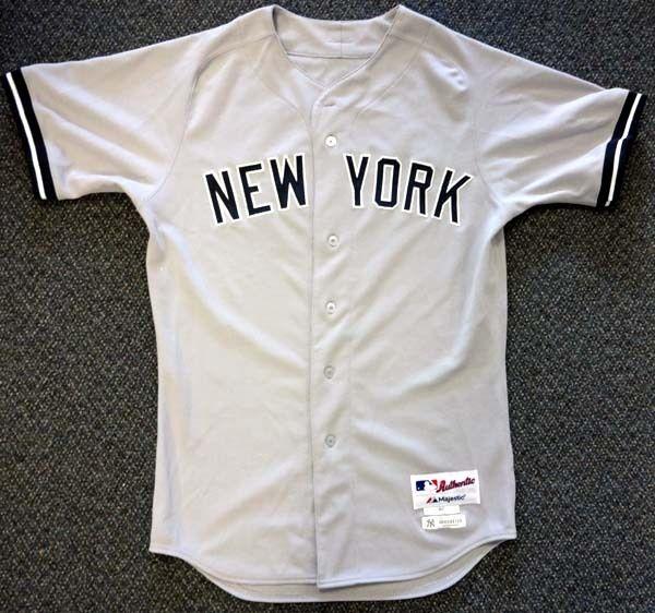 383ac2224 ... Ichiro Suzuki 2013 Game-Used Worn   Signed New York Yankees Jersey (MLB  ...