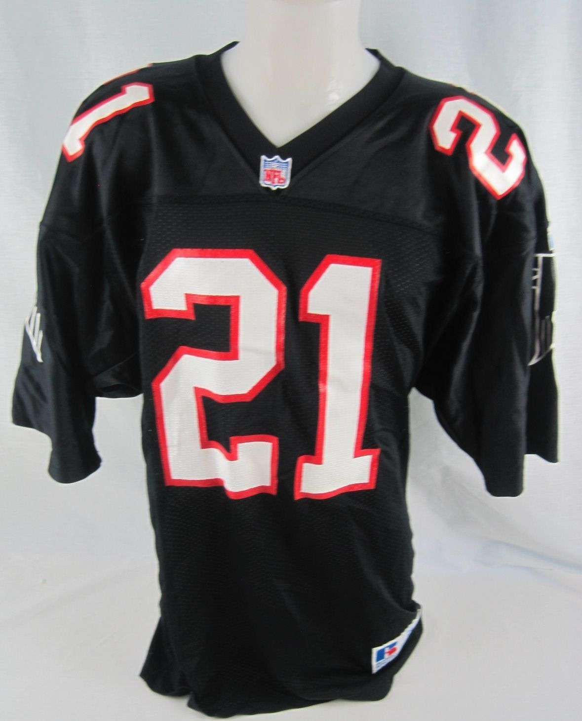 1ec7b77ac4556 ... Prime-time: Deion Sanders Game-Used & Signed 1992 Atlana Falcons Home  Jersey ...