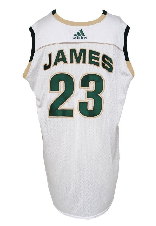 premium selection 8ed67 663ae Lot Detail - Lebron James Game-Used St. Vincent St. Mary ...