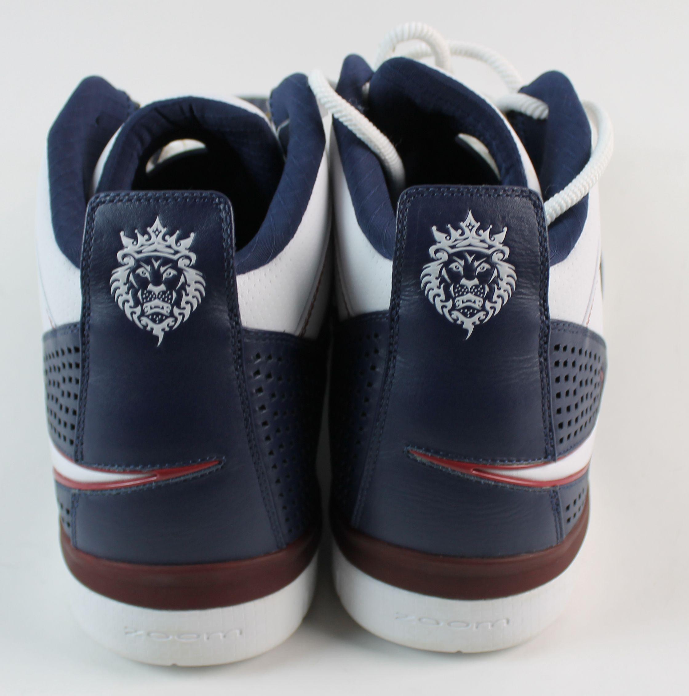 30122bf1e7f ... LeBron James Signed   Game Worn 2008 Nike Zoom Shoes w  Rare King James  Signature