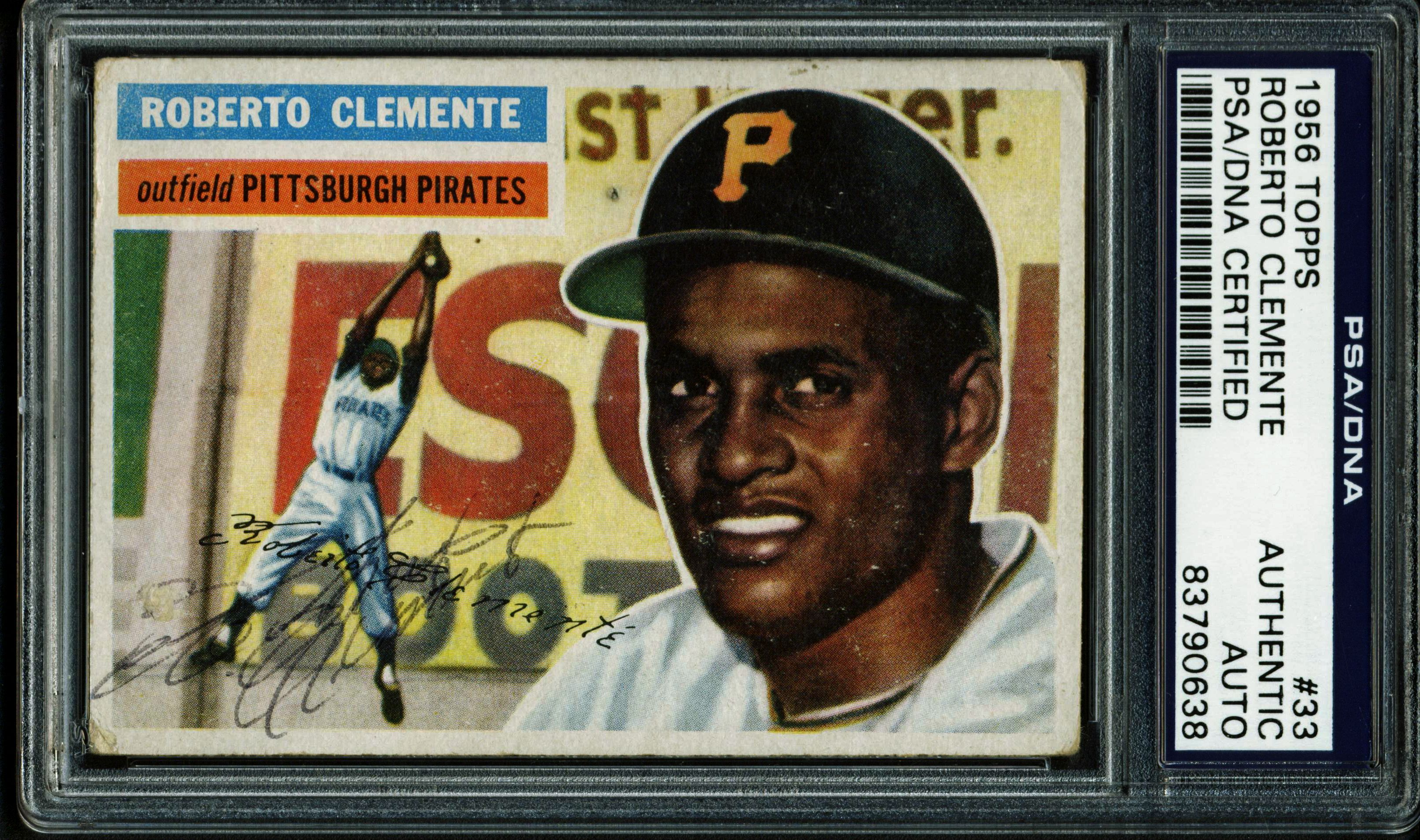 Lot Detail Roberto Clemente Ultra Rare Signed 1956 Topps