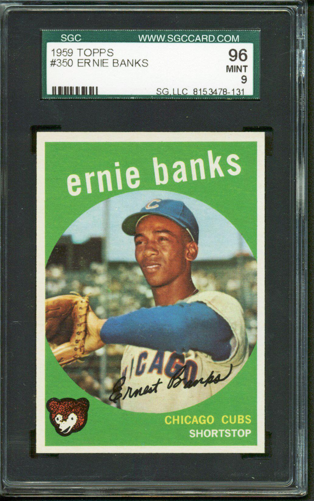 Lot Detail Ernie Banks 1959 Topps Baseball Card Sgc Graded