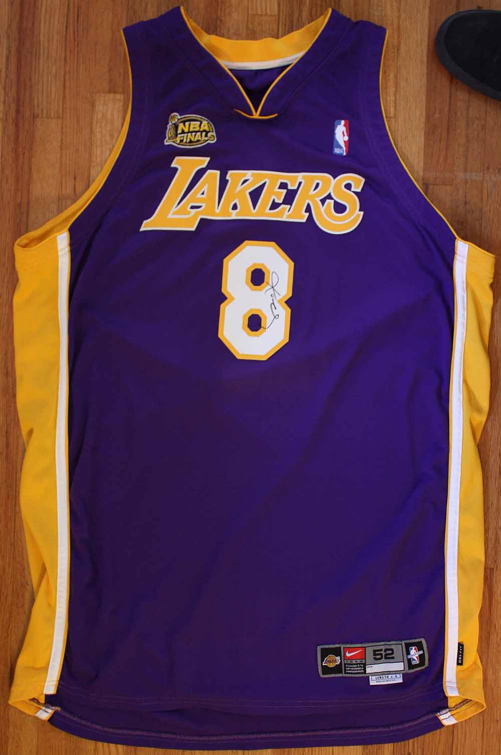 Lot Detail - 2000-01 Kobe Bryant Game Worn & Signed NBA Finals Jersey (DC Sports)