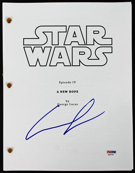 Lot Detail Star Wars George Lucas Signed A New Hope Script Psa Dna