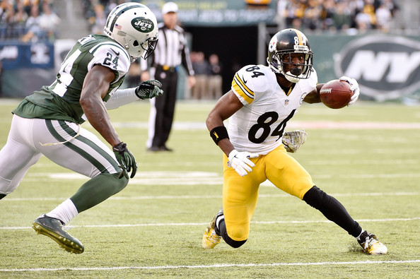 Antonio Brown Signed   Game Used Worn 2014 Pittsburgh Steelers Jersey Versus  NY Jets! 940b43460