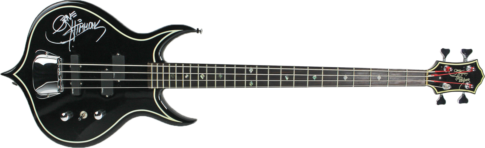 KISS Gene Simmons Awesome Signed Punisher Bass Guitar PSA DNA