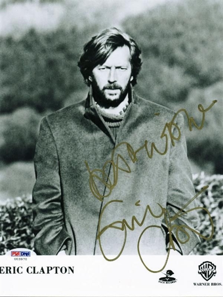 lot detail eric clapton signed 8 x 10 publicity photo with exceptional full name autograph. Black Bedroom Furniture Sets. Home Design Ideas