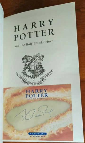Harry Potter Hardcover Book Value : Lot detail harry potter j k rowling signed quot