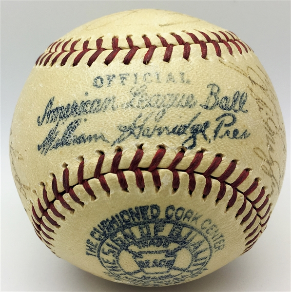 1938 WS Champion NY Yankees Multi-Signed Baseball w/ Gehrig & Others (TPA Guaranteed)