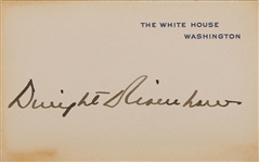 President Dwight D. Eisenhower ULTRA-RARE Signed White House Card (TPA Guaranteed)