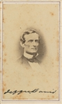 Jefferson Davis Rare Near-Mint Signed Carte-De-Visite Portrait Photograph (TPA Guaranteed)