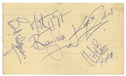 "The Rolling Stones Vintage Group Signed 2.5"" x 4.5"" Album Page w/ Brian Jones! (Tracks & TPA Guaranteed)"