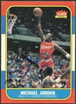 Michael Jordan Signed 1986 Fleer Rookie Card w/ Sharp Corners & Exceptional Autograph! (Upper Deck)