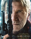 "Harrison Ford Signed 11"" x 14"" Color Photo from ""The Force Awakens"" (BAS/Beckett)"