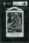 "Heather ORourke Signed 3.5"" x 5.5"" ""Poltergeist II"" Publicity Photo (BAS/Beckett Encapsulated)"