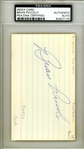"Brian Piccolo Signed 3"" x 5"" Index Card (PSA/DNA Encapsulated)"