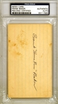 "ULTRA RARE Frank ""Home Run"" Baker Signed 3"" x 5"" Index Card (PSA/DNA Encapsulated)"