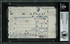 "Martin Luther King Jr. Signed 3.25"" x 5"" Hotel Credit Card Receipt (BAS/Beckett Encapsulated)"