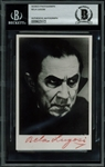 "Vintage Bela Lugosi Signed B&W 3.25"" x 5"" Photo as Dracula--Signed in Blood Red Ink! (PSA/DNA)"