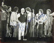 "The Rolling Stones In-Person Group Signed 16"" x 20"" B&W Concert Photo (Beckett/BAS)"