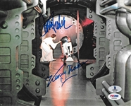 "Star Wars: Carrie Fisher & Kenny Baker Dual Signed 8"" x 10"" Color Photo (Beckett/BAS & PSA/DNA)"