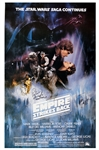 "Carrie Fisher & Peter Mayhew Dual Signed 27"" x 41"" Poster for ""The Empire Strikes Back"" (Beckett/BAS)"