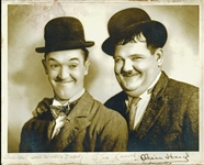 "Stan Laurel & Oliver Hardy Extraordinary Signed Vintage 8"" x 10"" Photograph (PSA/DNA)"