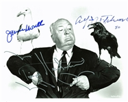 "The Birds: Rare Alfred Hitchcock, Tippi Hedren & Jeannie Russell Signed 8"" x 10"" Photo (PSA/DNA)"