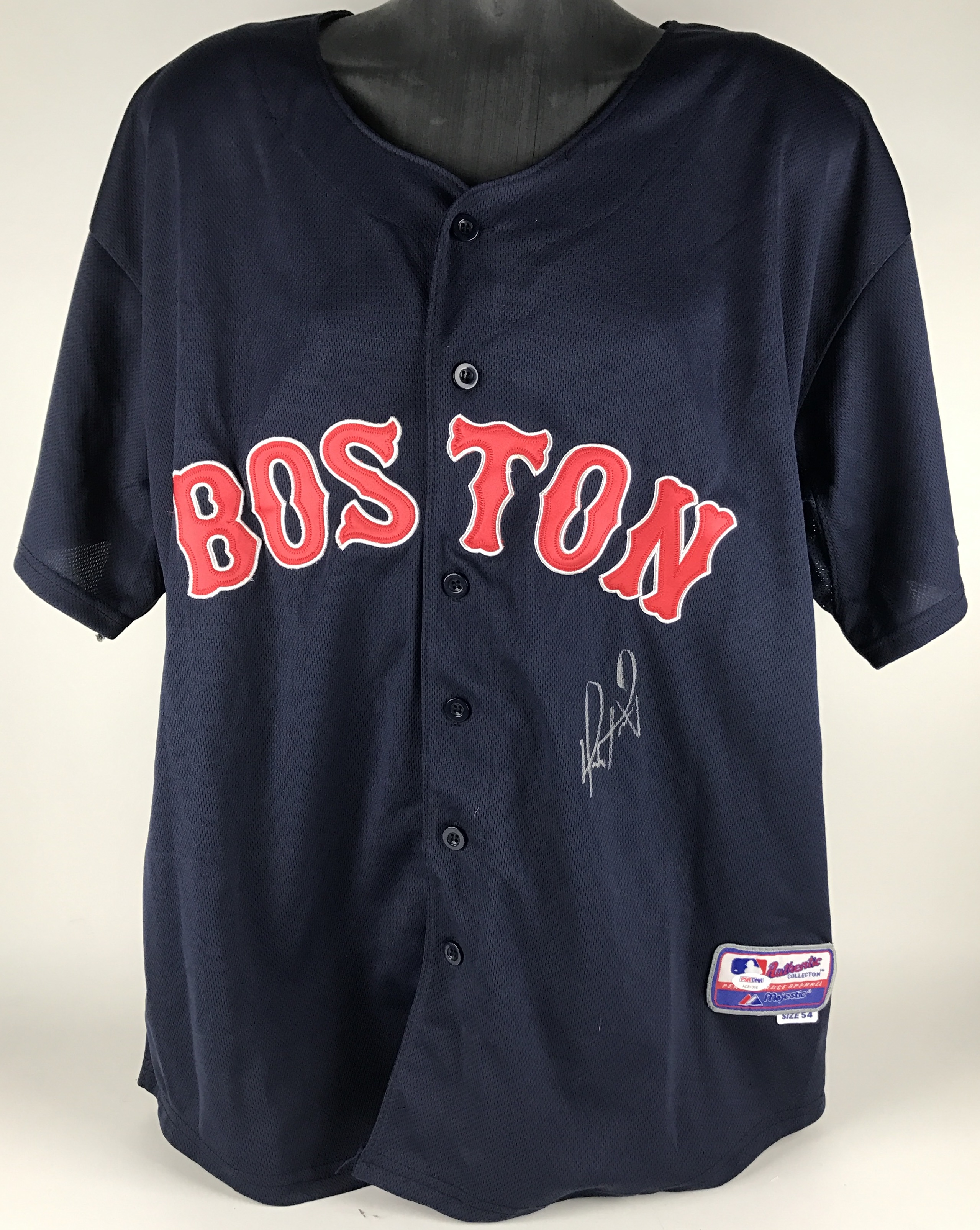 the best attitude c8a13 cdedb Lot Detail - David Ortiz Signed Boston Red Sox Road Jersey ...