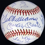 500 Home Run Club Multi-Signed ONL Baseball w/ Incredible 21 Signatures! (PSA/DNA Graded MINT 9)