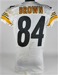 Antonio Brown Signed & Game Used/Worn 2013 Pittsburgh Steelers Jersey Versus Oakland Raiders! (Photo Match)