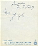 "The Three Stooges Vintage Group Signed 5"" x 6"" Album Page w/ Moe, Curly & Larry (JSA)"