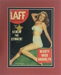 "Marilyn Monroe Signed 10"" x 13.5"" LAFF Magazine Cover w/ ULTRA-RARE  ""Norma Jean"" Autograph! (Beckett)"