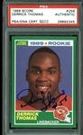 Derrick Thomas Signed 1989 Score Rookie Card (PSA/DNA Encapsulated)