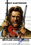 "Clint Eastwood Over-Sized 12"" x 18"" Movie Poster from ""The Outlaw Josey Wales"" (BAS/Beckett Guaranteed)"