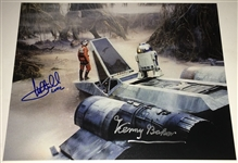 "Star Wars: Mark Hamill & Kenny Baker Dual-Signed 11"" x 14"" Photo (BAS/Beckett Guaranteed)"