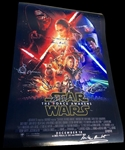 "Star Wars: The Force Awakens Cast-Signed 20"" x 30"" Poster w/ Ford, Ridley, Abrams & More! (BAS/Beckett Guaranteed)"