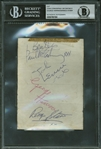 "The Beatles Vintage Group Signed Near-Mint Album Page w/ McCartney ""Beatles"" Inscription! (Beckett/BAS Encapsulated)"