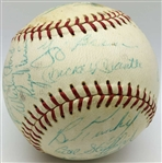 1961 NY Yankees Team Signed OAL Baseball w/ No Clubhouse & 28 Signatures! (JSA)