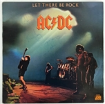 "AC/DC: Vintage Group Signed ""Let There Be Rock"" Album w/ Rare Bon Scott! (Beckett)"