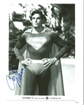 "Christopher Reeve Signed 8"" x 10"" B&W ""Superman III"" Promotional Photo (PSA/DNA)"