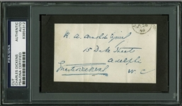 "Charles Dickens Vintage Signed 2.25"" x 4"" Document Cut (PSA/DNA Encapsulated)"