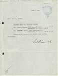 President Franklin D. Roosevelt Signed Early 1928 Typed Letter (Beckett)