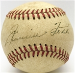Jimmie Foxx Stunning Single Signed OAL Baseball w/ Exceptional Bold Autograph! (PSA/DNA & JSA)