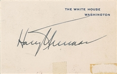 President Harry Truman Signed White House Card (Beckett/BAS Guaranteed)