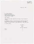 "Apollo 11: Neil Armstrong Signed 8"" x 11 Typed 1992 Letter (Beckett/BAS Guaranteed)"