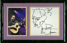 "Dave Matthews Signed & Hand Sketched 6"" x 6"" Album Page (Beckett/BAS Guaranteed)"