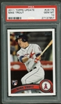 2011 Topps Update #US175 Mike Trout Rookie Baseball Card PSA Graded GEM MINT 10!